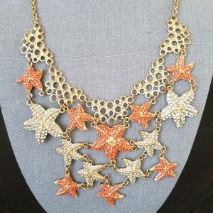 Jewelry - Starfish & Coral Statement Necklace!